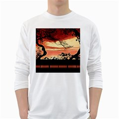 Autumn Song Autumn Spreading Its Wings All Around White Long Sleeve T-Shirts