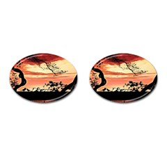 Autumn Song Autumn Spreading Its Wings All Around Cufflinks (oval)