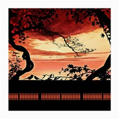 Autumn Song Autumn Spreading Its Wings All Around Medium Glasses Cloth (2 Side)