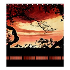 Autumn Song Autumn Spreading Its Wings All Around Shower Curtain 66  X 72  (large)