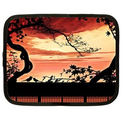 Autumn Song Autumn Spreading Its Wings All Around Netbook Case (xl)