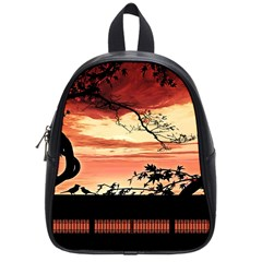 Autumn Song Autumn Spreading Its Wings All Around School Bags (Small)