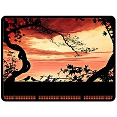 Autumn Song Autumn Spreading Its Wings All Around Fleece Blanket (large)
