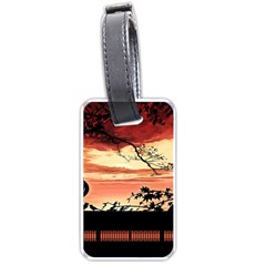 Autumn Song Autumn Spreading Its Wings All Around Luggage Tags (one Side)