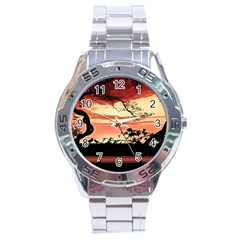 Autumn Song Autumn Spreading Its Wings All Around Stainless Steel Analogue Watch
