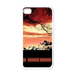 Autumn Song Autumn Spreading Its Wings All Around Apple iPhone 4 Case (White)