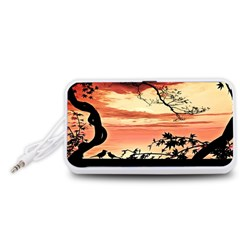 Autumn Song Autumn Spreading Its Wings All Around Portable Speaker (White)