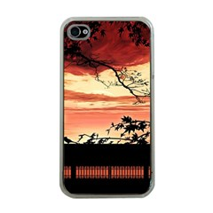 Autumn Song Autumn Spreading Its Wings All Around Apple Iphone 4 Case (clear)