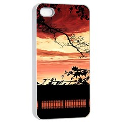 Autumn Song Autumn Spreading Its Wings All Around Apple iPhone 4/4s Seamless Case (White)