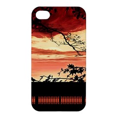 Autumn Song Autumn Spreading Its Wings All Around Apple Iphone 4/4s Hardshell Case