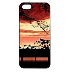 Autumn Song Autumn Spreading Its Wings All Around Apple Iphone 5 Seamless Case (black)
