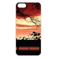 Autumn Song Autumn Spreading Its Wings All Around Apple Iphone 5 Seamless Case (white)