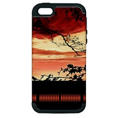 Autumn Song Autumn Spreading Its Wings All Around Apple Iphone 5 Hardshell Case (pc+silicone)
