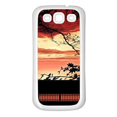 Autumn Song Autumn Spreading Its Wings All Around Samsung Galaxy S3 Back Case (white)