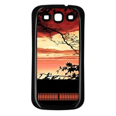 Autumn Song Autumn Spreading Its Wings All Around Samsung Galaxy S3 Back Case (Black)