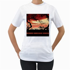 Autumn Song Autumn Spreading Its Wings All Around Women s T Shirt (white)