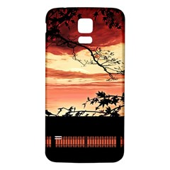 Autumn Song Autumn Spreading Its Wings All Around Samsung Galaxy S5 Back Case (White)