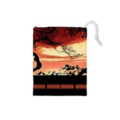 Autumn Song Autumn Spreading Its Wings All Around Drawstring Pouches (Small)