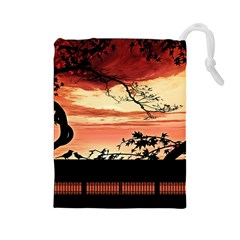 Autumn Song Autumn Spreading Its Wings All Around Drawstring Pouches (large)