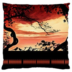 Autumn Song Autumn Spreading Its Wings All Around Standard Flano Cushion Case (two Sides)