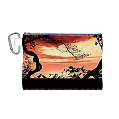 Autumn Song Autumn Spreading Its Wings All Around Canvas Cosmetic Bag (m)