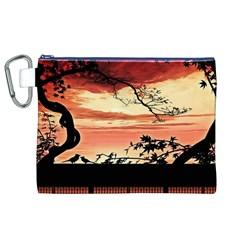 Autumn Song Autumn Spreading Its Wings All Around Canvas Cosmetic Bag (xl)