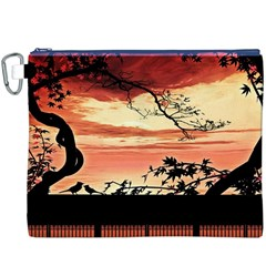 Autumn Song Autumn Spreading Its Wings All Around Canvas Cosmetic Bag (XXXL)