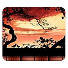 Autumn Song Autumn Spreading Its Wings All Around Double Sided Flano Blanket (Small)