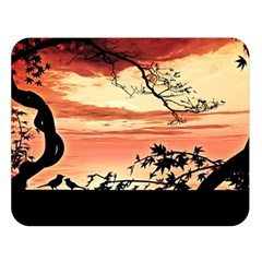 Autumn Song Autumn Spreading Its Wings All Around Double Sided Flano Blanket (large)