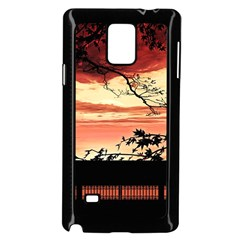 Autumn Song Autumn Spreading Its Wings All Around Samsung Galaxy Note 4 Case (Black)