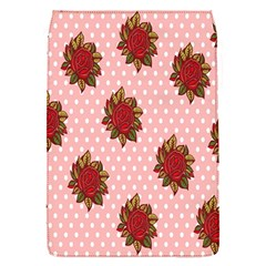 Pink Polka Dot Background With Red Roses Flap Covers (s)