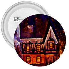 House In Winter Decoration 3  Buttons