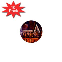 House In Winter Decoration 1  Mini Buttons (10 pack)