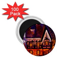 House In Winter Decoration 1.75  Magnets (100 pack)