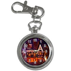 House In Winter Decoration Key Chain Watches