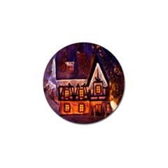House In Winter Decoration Golf Ball Marker