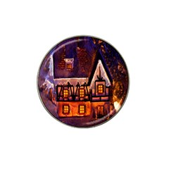 House In Winter Decoration Hat Clip Ball Marker
