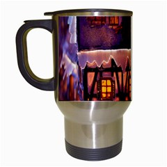 House In Winter Decoration Travel Mugs (white)