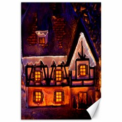 House In Winter Decoration Canvas 12  x 18