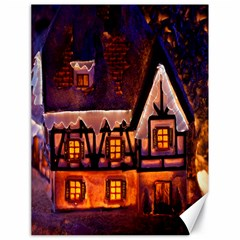 House In Winter Decoration Canvas 18  x 24