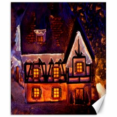 House In Winter Decoration Canvas 20  X 24