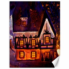 House In Winter Decoration Canvas 36  x 48
