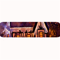 House In Winter Decoration Large Bar Mats