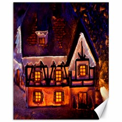 House In Winter Decoration Canvas 11  x 14