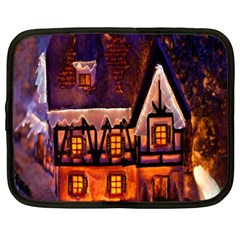 House In Winter Decoration Netbook Case (large)