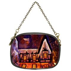 House In Winter Decoration Chain Purses (One Side)