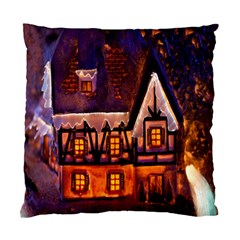 House In Winter Decoration Standard Cushion Case (one Side)