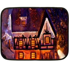 House In Winter Decoration Double Sided Fleece Blanket (mini)