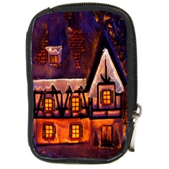 House In Winter Decoration Compact Camera Cases