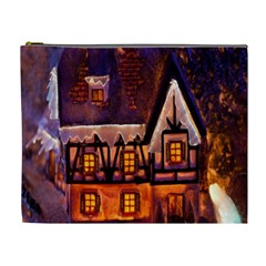 House In Winter Decoration Cosmetic Bag (XL)